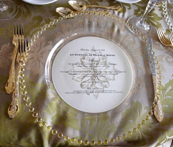 Place setting at the Marble House Mansion